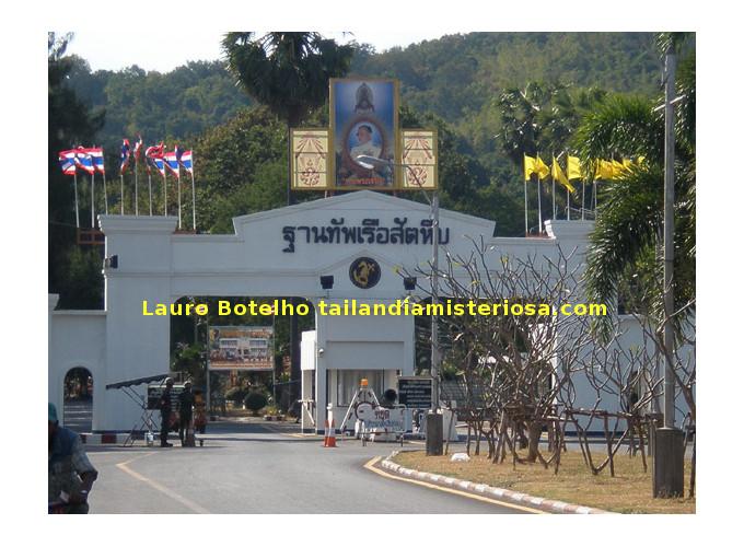 Casernas Navais de Sattahip Tailandia Portão de Entrada
